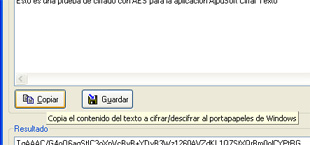 AjpdSoft Cifrar Texto - Copiar al portapapeles de Windows