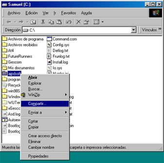 AjpdSoft Cómo conectar dos equipos en red por el puerto paralelo LPT1 con Windows 98 y Windows XP - Configuración del equipo host con Windows 98 SE