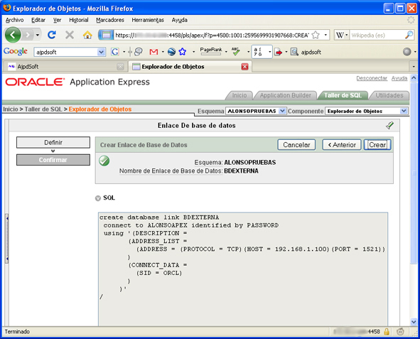 how to create schema in oracle 9i
