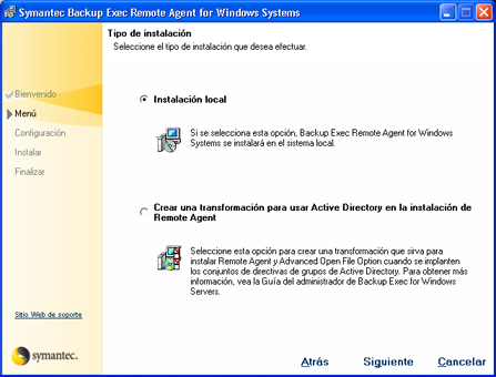 AjpdSoft Instalación de Backup Exec Remote Agent en equipo con Windows XP SP3