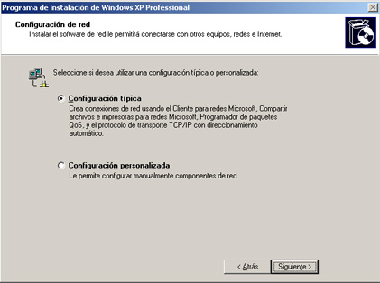 Configuración de la red - Instalación de Windows XP SP3
