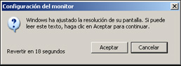 Ajuste de pantalla - Instalación de Windows XP SP3