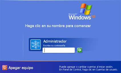 Primer acceso a Windows - Instalación de Windows XP SP3