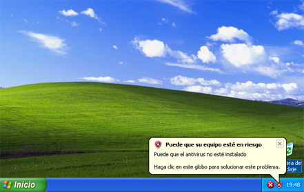 Escritorio de Windows XP SP3 - Instalación de Windows XP SP3