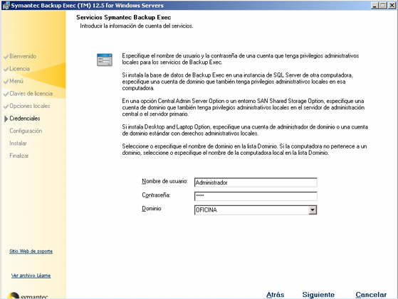 AjpdSoft Instalar Symantec Backup Exec 12.5 for Windows Servers en Windows Server 2003