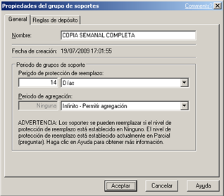 AjpdSoft Instalar Symantec Backup Exec 12.5 for Windows Servers en Windows Server 2003 - Un ejemplo de configuración inicial de Symantec Backup Exec