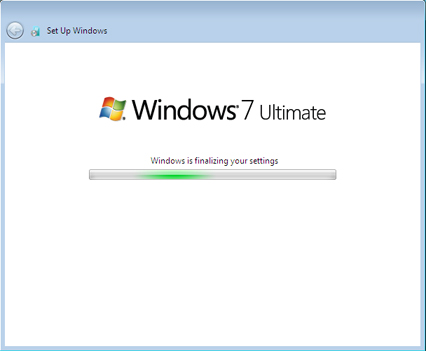 Instalar Microsoft Windows 7 Ultimate Beta 1 - Inicio del sistema