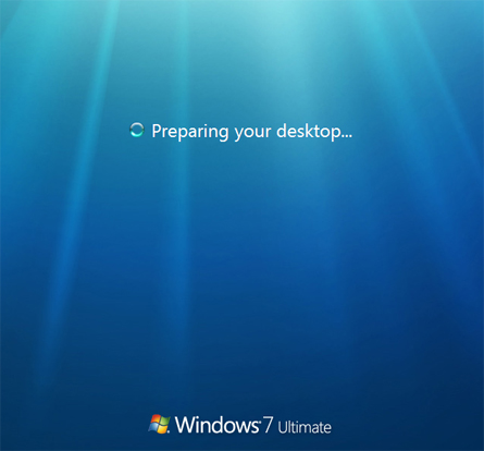 Instalar Microsoft Windows 7 Ultimate Beta 1 - Preparando el escritorio