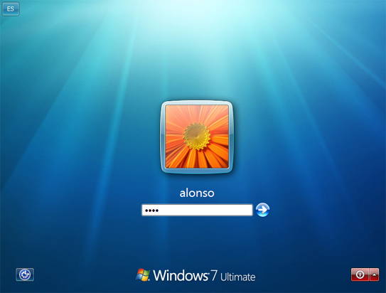 Instalar Microsoft Windows 7 Ultimate Beta 1 - Inicio de sesión