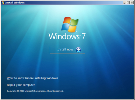 Instalar Microsoft Windows 7 Ultimate Beta 1 - Inicio instalación