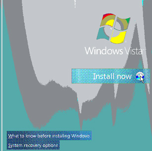 Inicio instalación - Windows Vista Beta 2