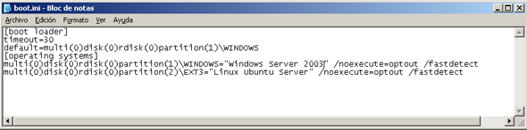 AjpdSoft Proceso de arranque en Windows Server 2003 - El escritorio de Windows Server 2003 para el usuario que ha iniciado sesión