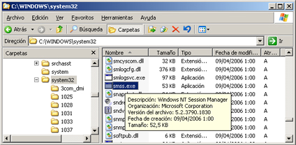 AjpdSoft Proceso de arranque en Windows Server 2003 - SMSS.EXE