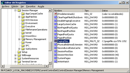 AjpdSoft Proceso de arranque en Windows Server 2003 - Registro - Memory Management