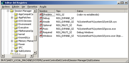 AjpdSoft Proceso de arranque en Windows Server 2003 - Registro - SubSystems