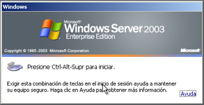 AjpdSoft Proceso de arranque en Windows Server 2003 - Inicio de sesión